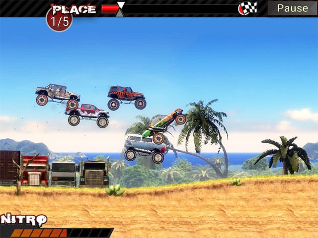 Crazy Monster Trucks Mac Game Screenshot