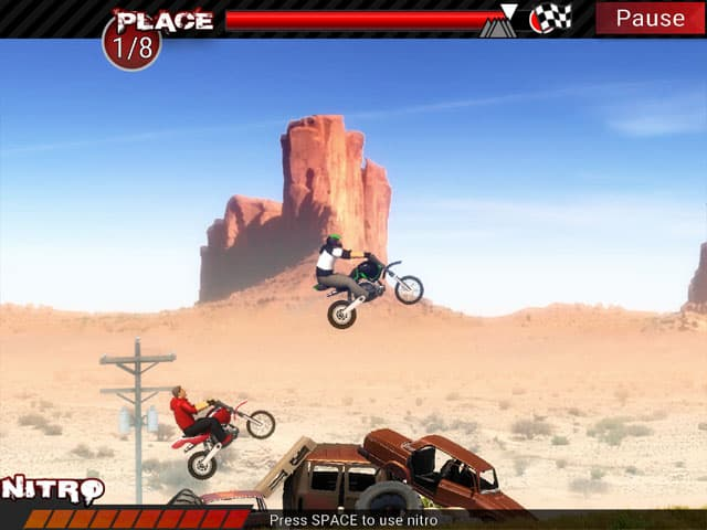 Dirt Bikes Super Racing Mac Game Screenshot