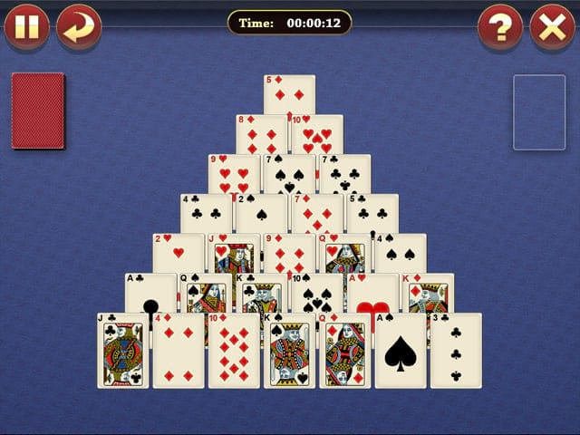 Lucky Pyramid Solitaire Mac Game Screenshot